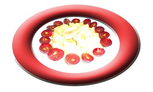 Fruta variada en ensalada.