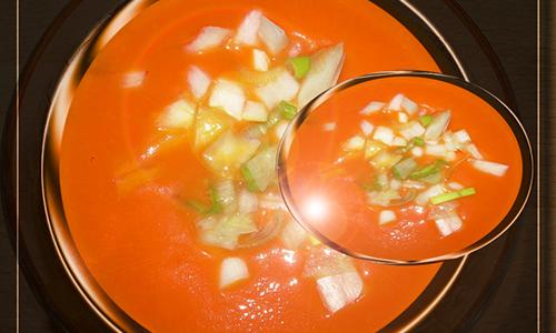 Zanahorias en gazpacho.