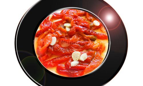 Pimientos rojos asados.