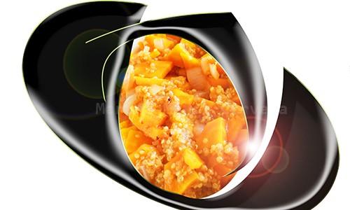 Quinua con zanahorias.