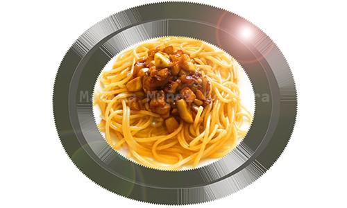 Espaguetis con calabacín.