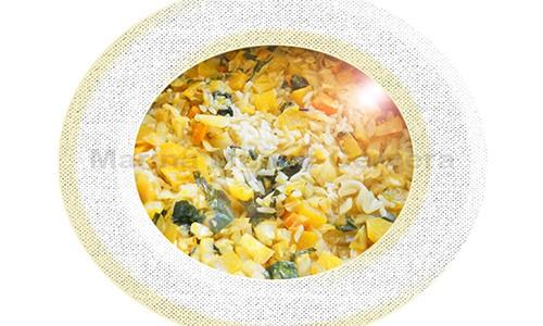 Arroz con hortalizas y verduras.