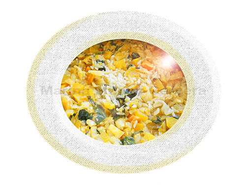 arroz con hortalizas
