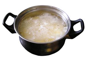 cocinar con agua