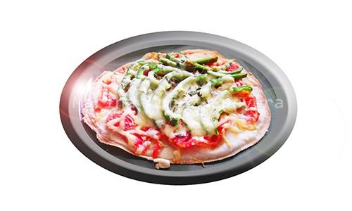 Pizza casera saludable.