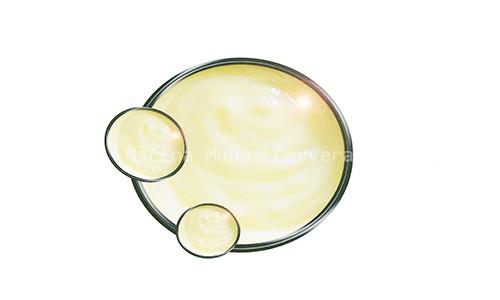 Salsa mayonesa casera con ajo.