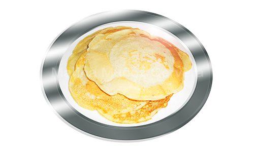 Tortitas de plátano sin huevo y con leche desnatada.