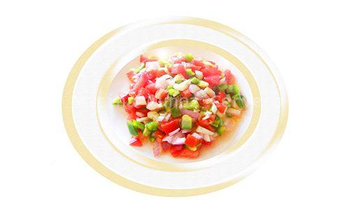 Pipirrana, el sabor de una nutritiva ensalada mediterránea.